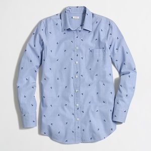 J Crew End on End Shirt in Anchor